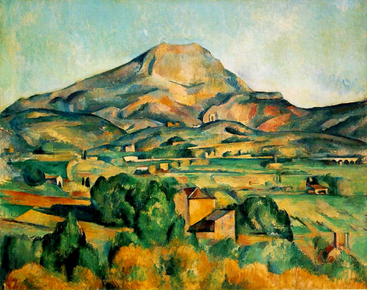 P. Cézanne, Mont Sainte-Victoire, 1895. The Barnes Foundation, Merion, Pennsylvania, USA