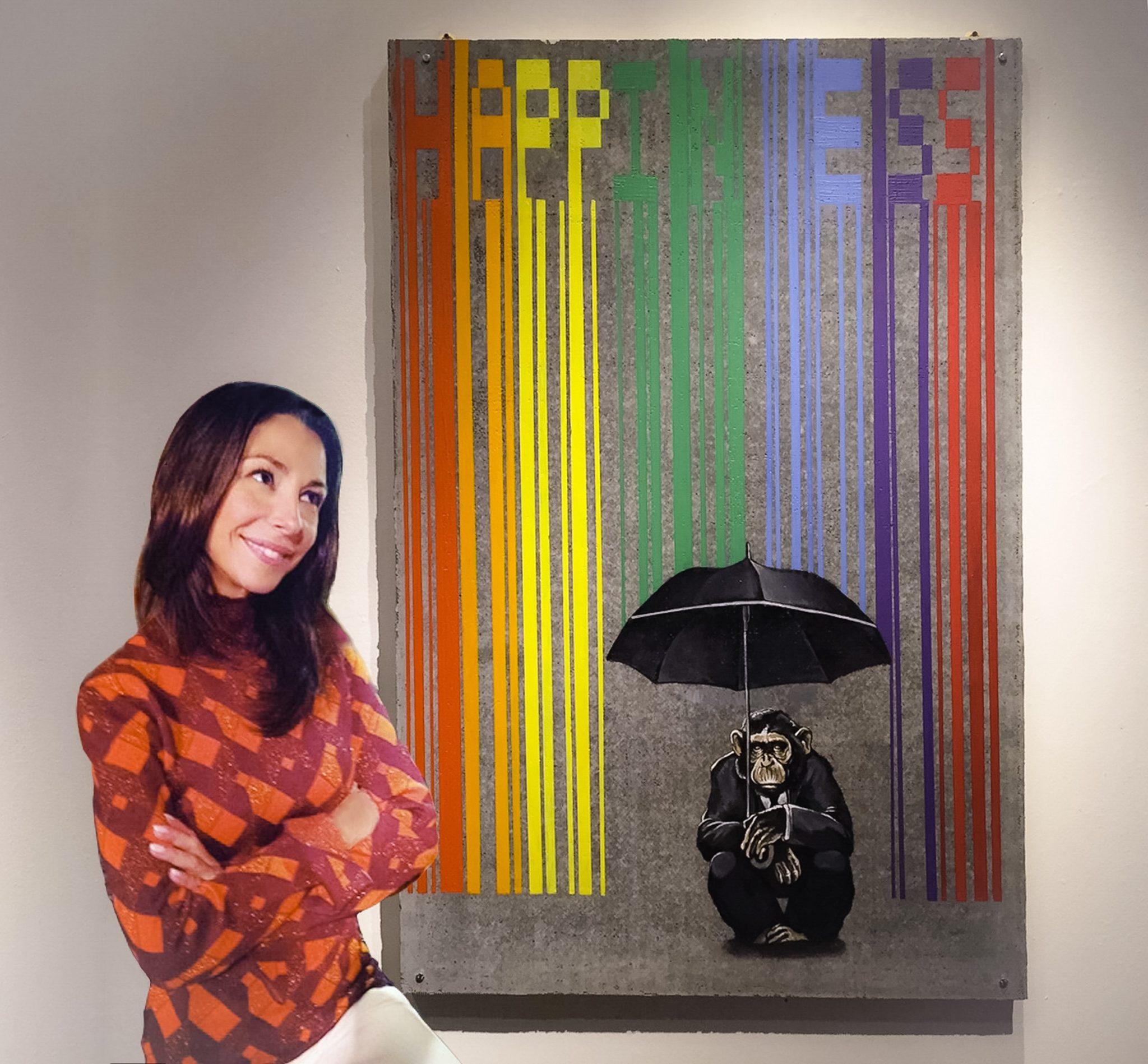 "#SELFIEADARTE ""Going around under an umbrella interferes with one's looking up at the sky"" #JerzyKosinski Happines @SimoneFugazzotto #Natiincattività #FondazioneMaimeri @CleliaPatella"