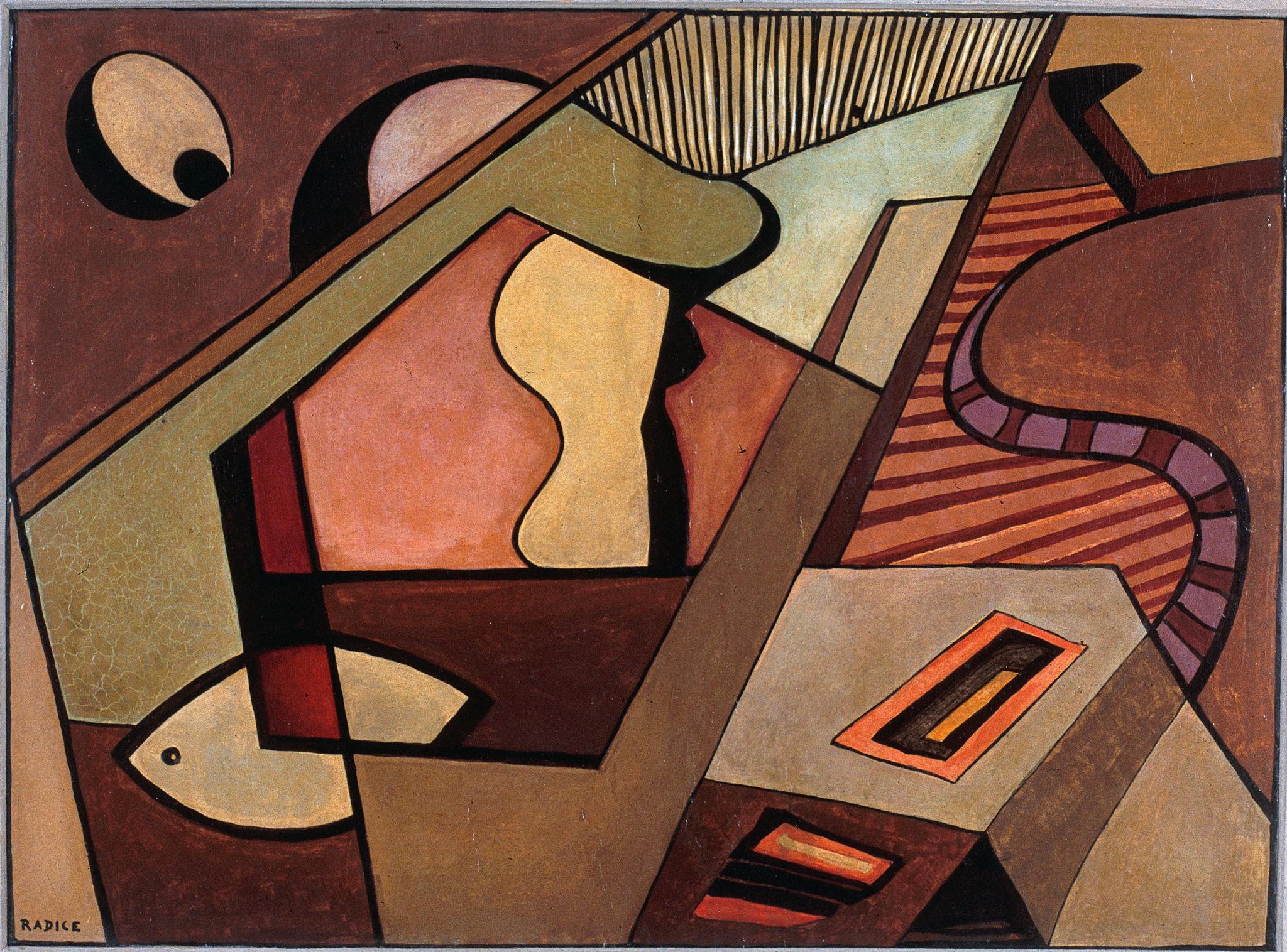 Mario Radice, Composizione pentagonale, 1950.