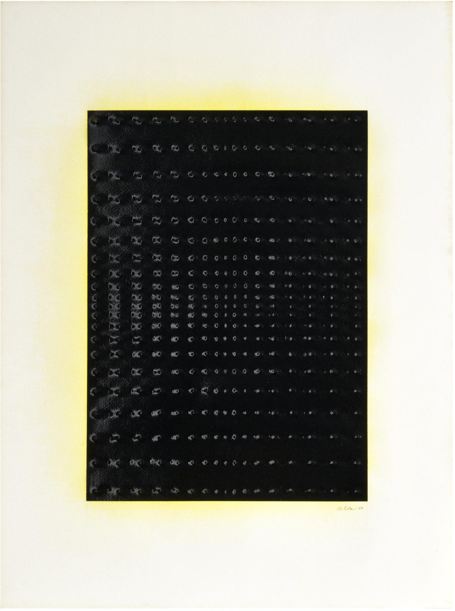 Enrico Castellani - Superficie blu, 1967