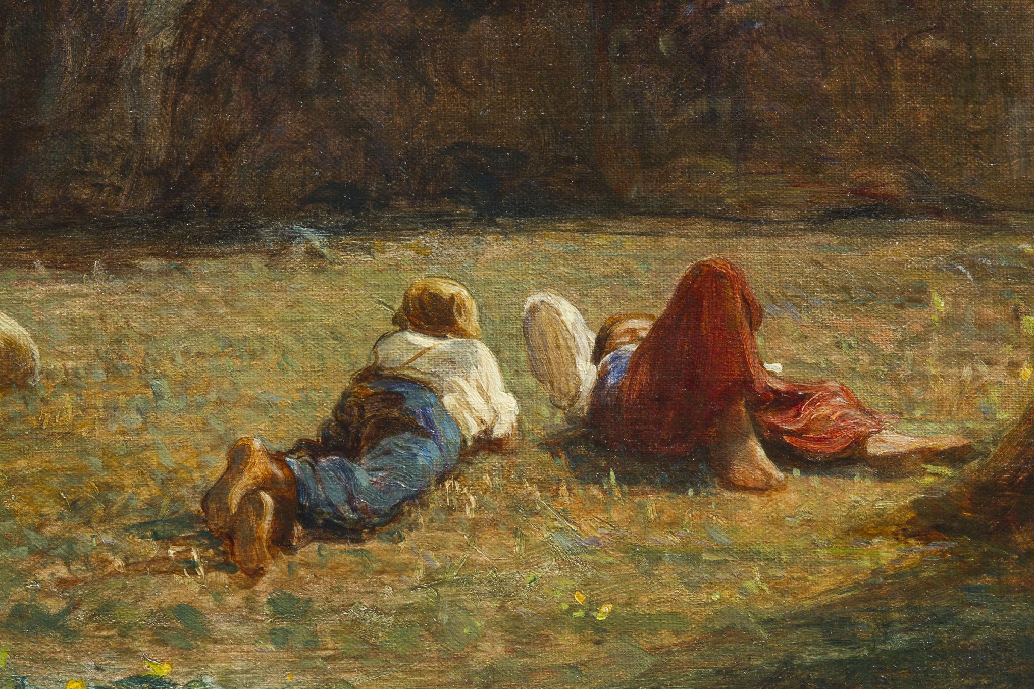 Fontanesi A. - Aprile (Rive del lago di Bourget), olio su tela 102 x 153 cm (particolare 4)