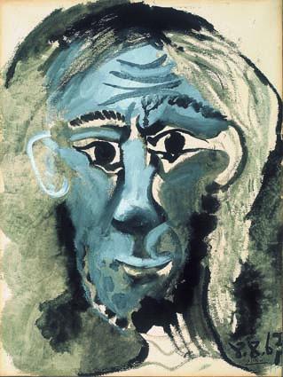 Autoritratto/ Selfportrait, 1967 gouache e inchiostro di china/ gouache and indianink 75 x 56,5 cm