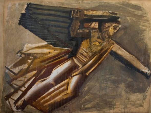 M. Sironi,Vittoria alata, 1935, cartone, Milano, collezione Isolabella