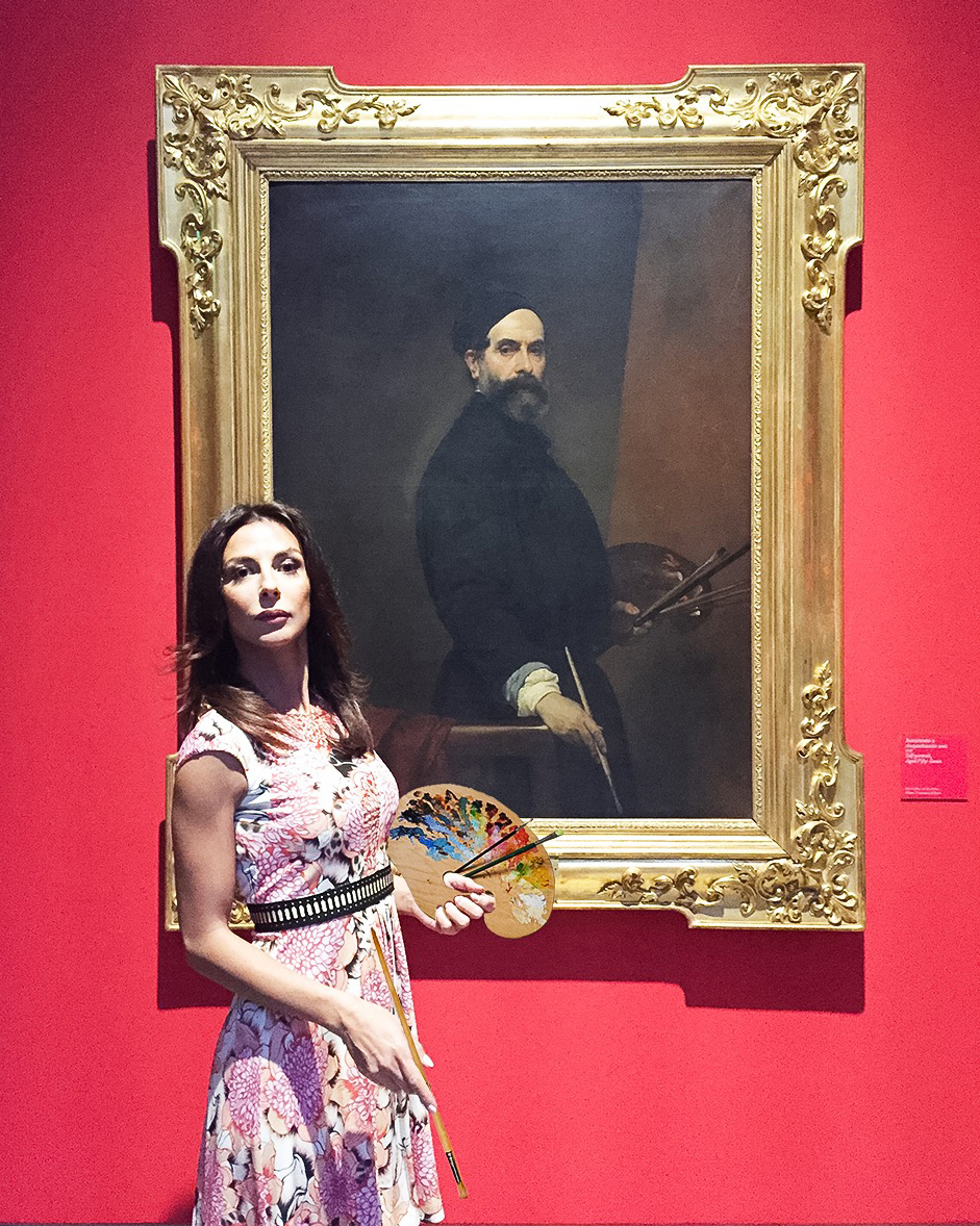 "#SELFIEADARTE ""Autoritratto con autoritratto - 2016"" #FrancescoHayez @GallerieD'Italia autoritratto-57 anni, 1848 @CleliaPatella"