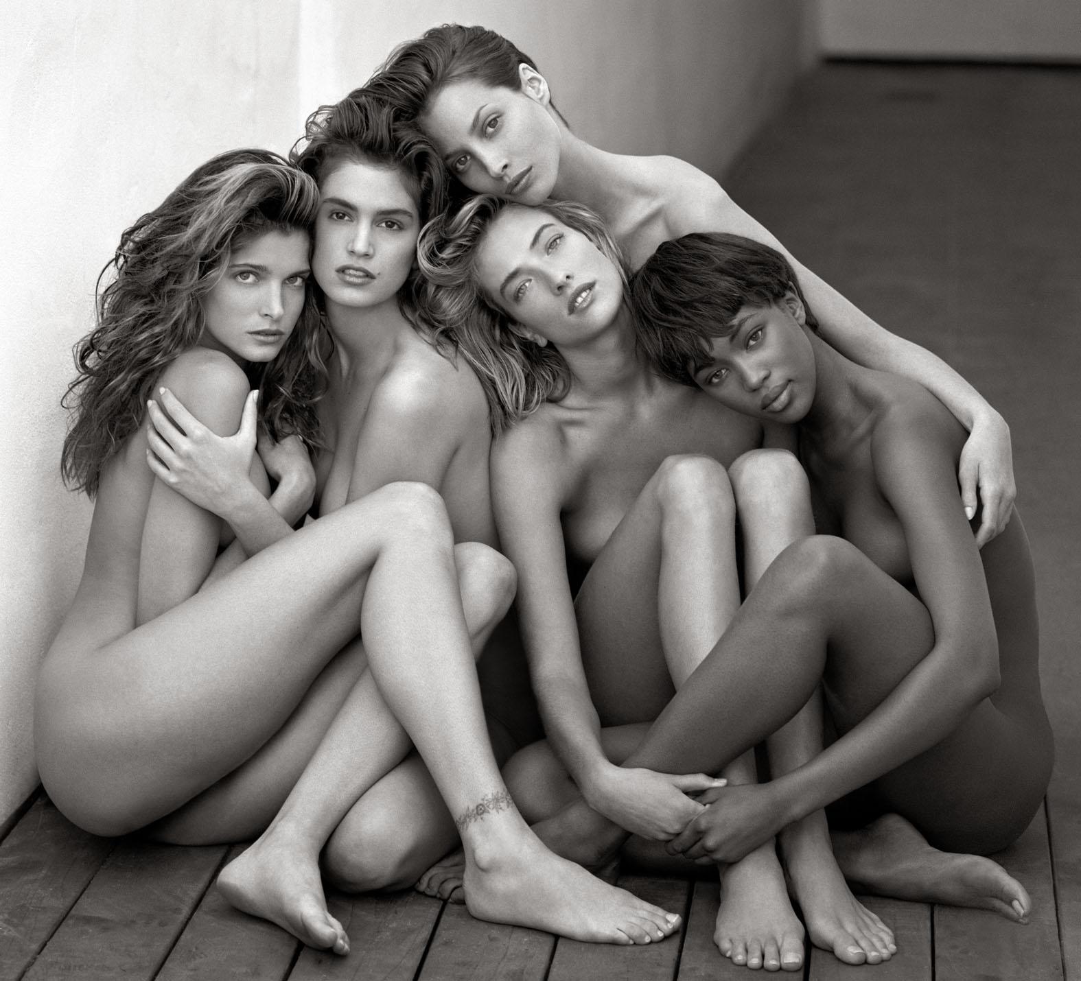 , Cindy, Christy, Tatjana, Naomi, Hollywood 1989