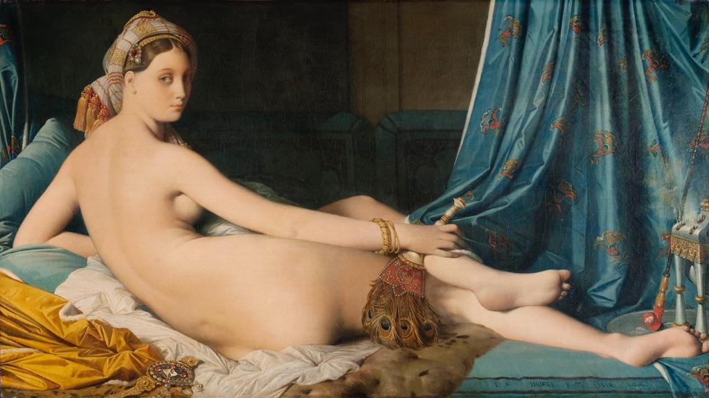 Jean Auguste Dominique Ingres, La grande odalisca, Louvre