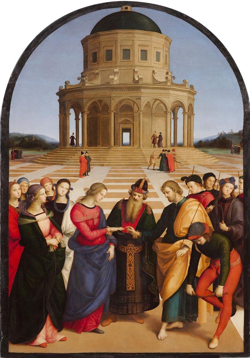 Raffaello Sanzio Lo Sposalizio della Vergine, 1504 olio su tavola, cm 170 × 118 Milano, Pinacoteca di Brera