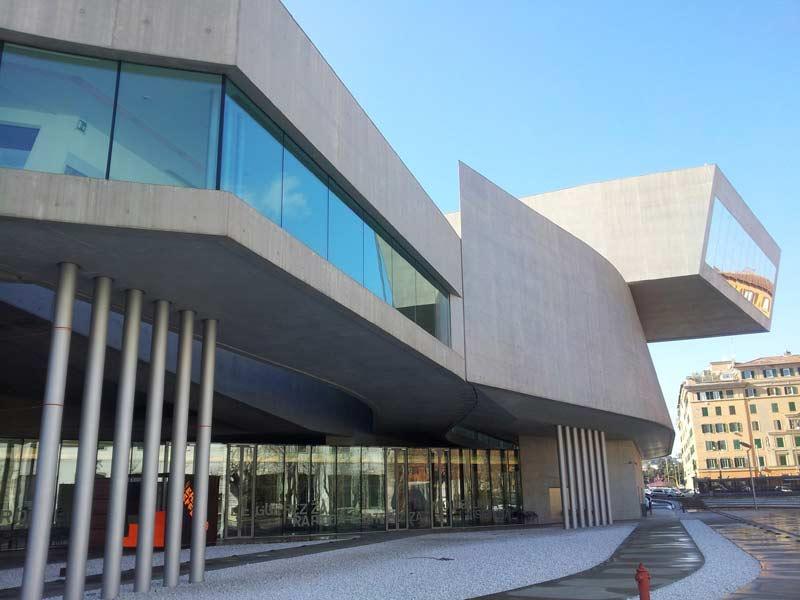 Il MAXXI , Museo nazionale delle arti del XXI secolo