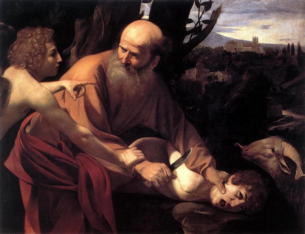 Michelangelo Merisi da Caravaggio, Il sacrificio di Isacco, 1603, Galleria degli Uffizi, Firenze