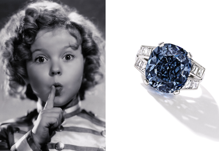 Il diamante di  Shirley Temple va all'asta. Stima 25-35 milioni €