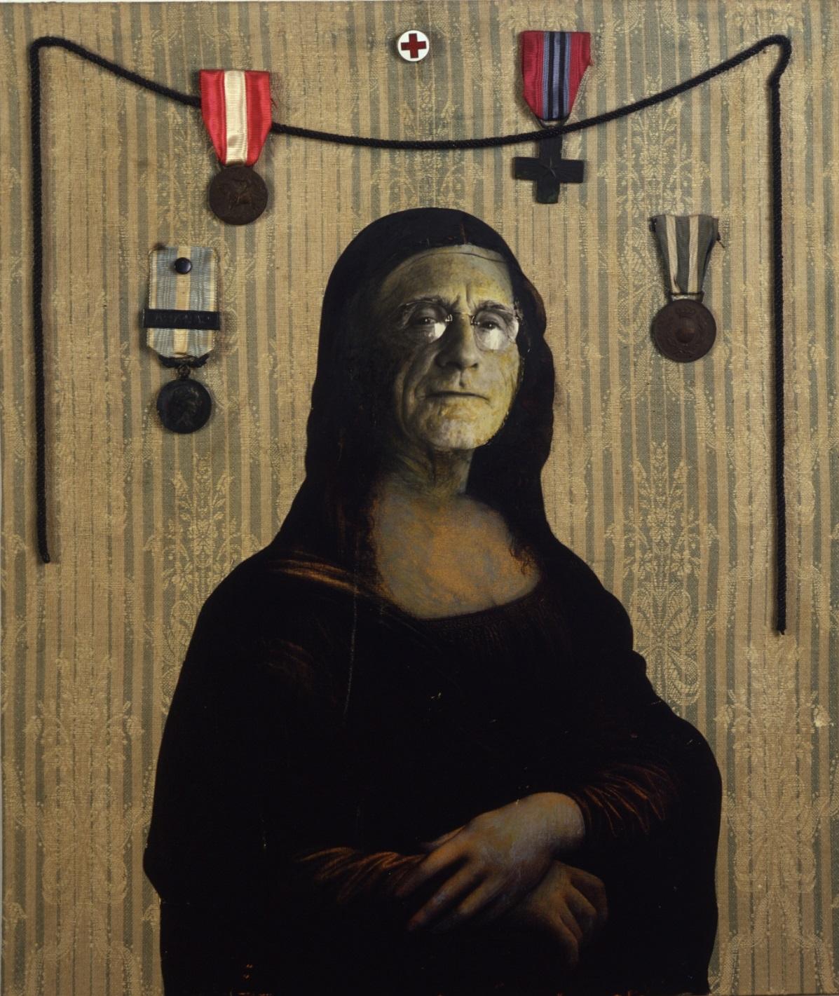 2. Enrico Baj, La vendetta della Gioconda, 1965, collage su tavola, cm 55x46, Vergiate, Archivio Baj