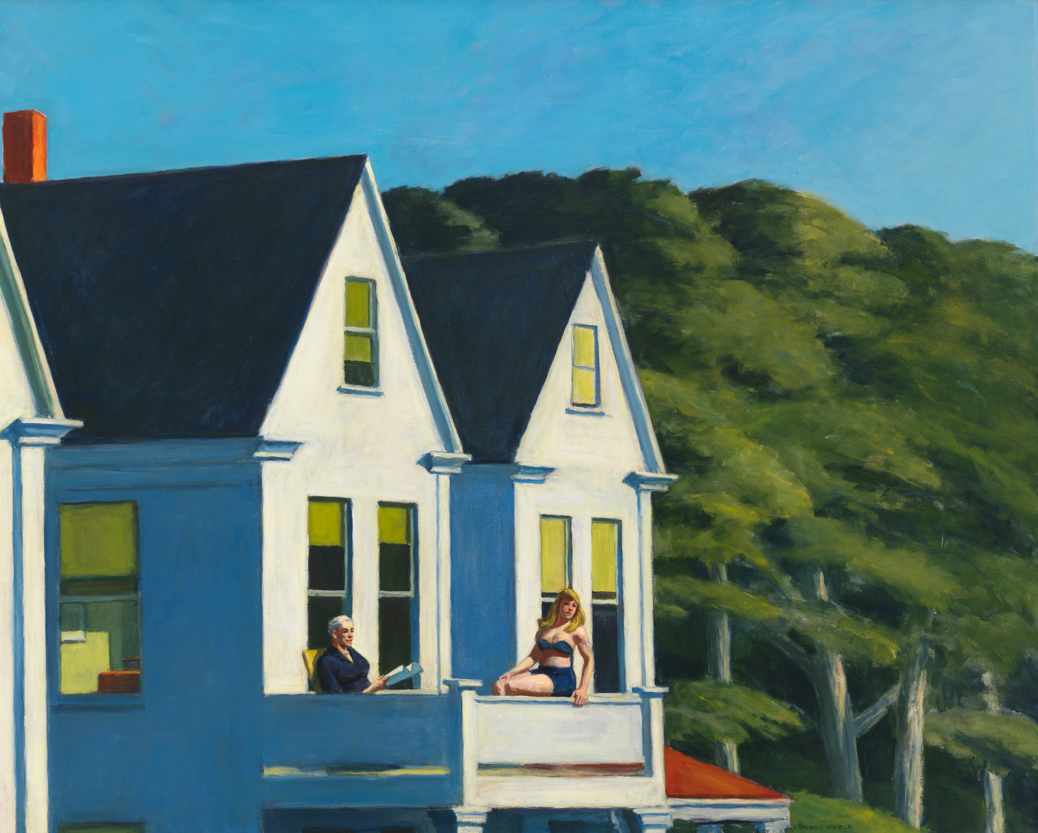 Edward Hopper (1882 1967) Second Story Sunlight 1960 Oil on canvas, 102,1x127,3 cm Whitney Museum of American Art, New York; purchase,with funds from the Friends of the Whitney Museum of American Art © Whitney Museum of American Art, N.Y.