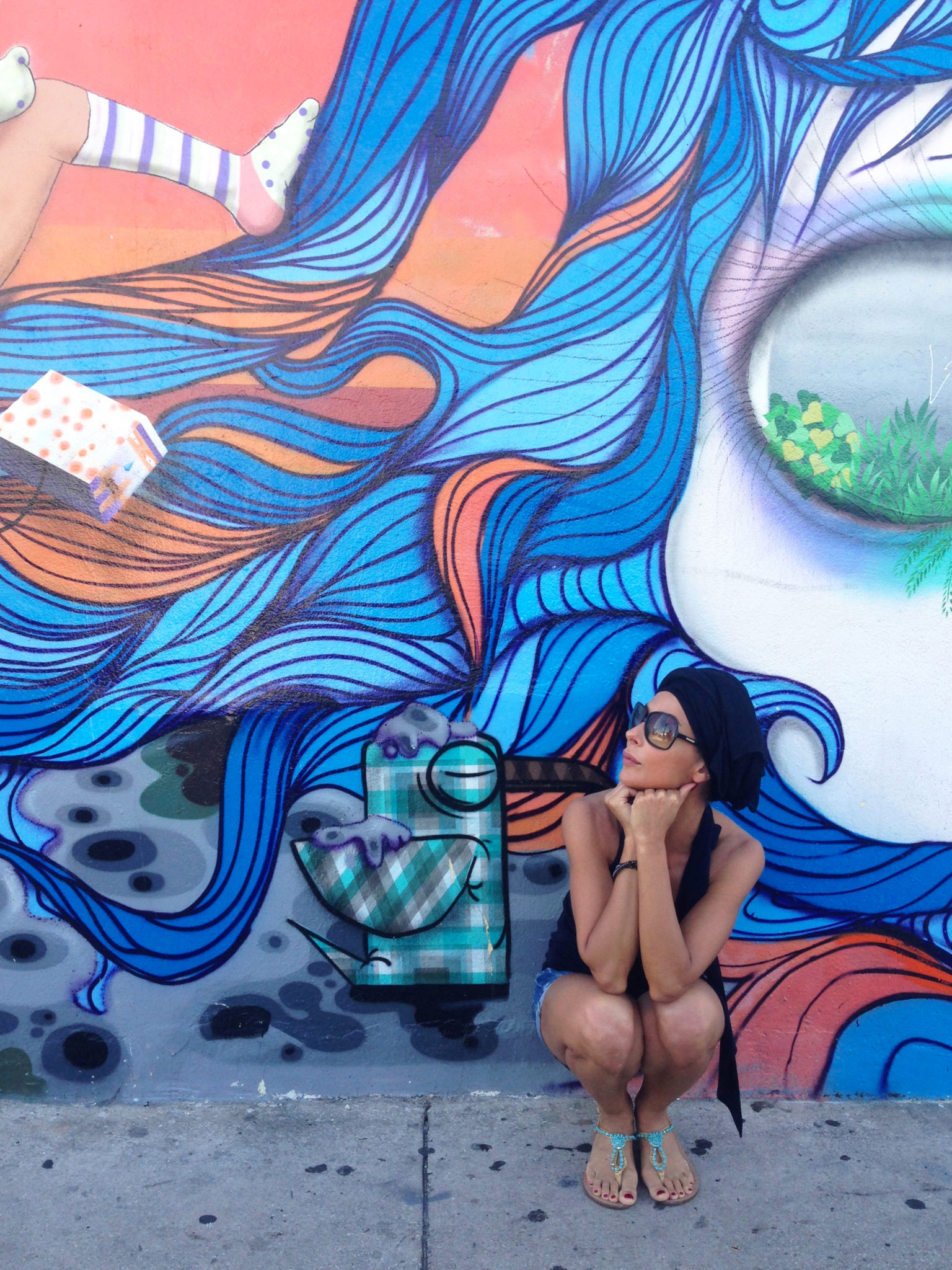 "#SELFIEADARTE ""Squatting by the former squat"" @OsGemeos #WynwoodArtDistrict #Miami"