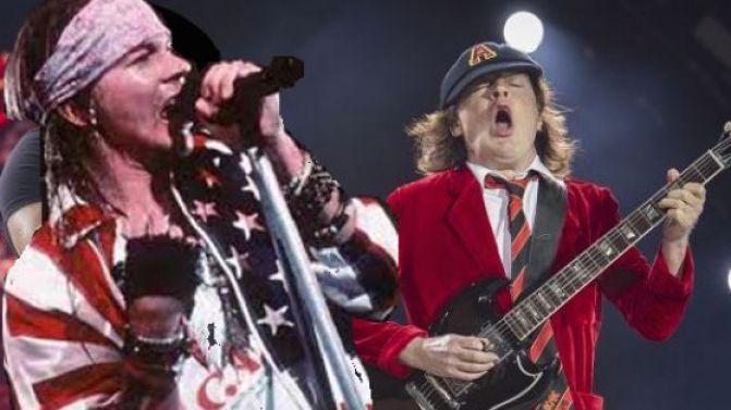Axl Rose con gli AC/DC. Ma i fans non ci stanno