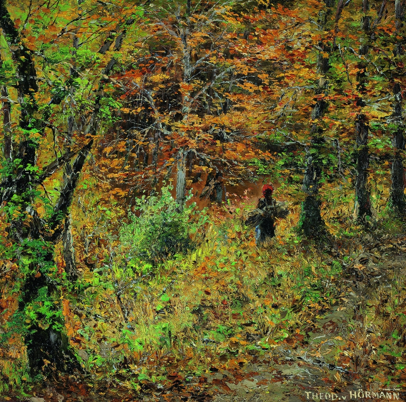 HEODOR VON HÖRMANN, Thicket in an Autumnal Beech Forest, Wessling | c. 1892 © Private collection