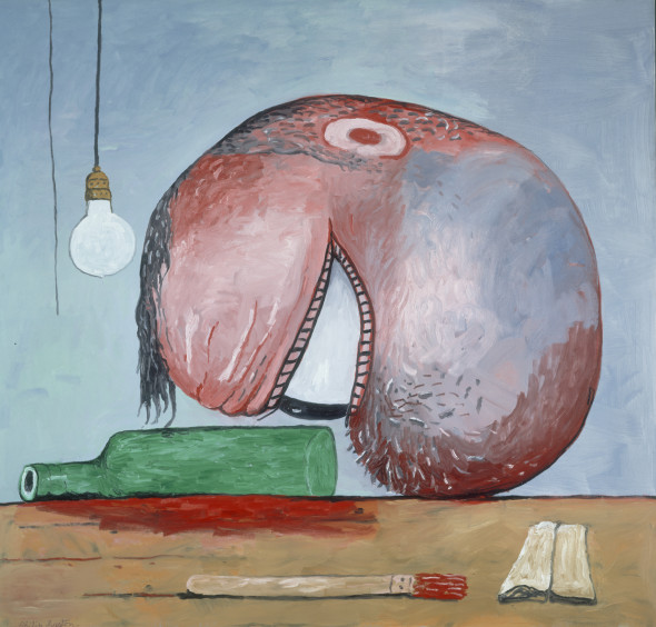 Philip Guston, Head and Bottle (1975)