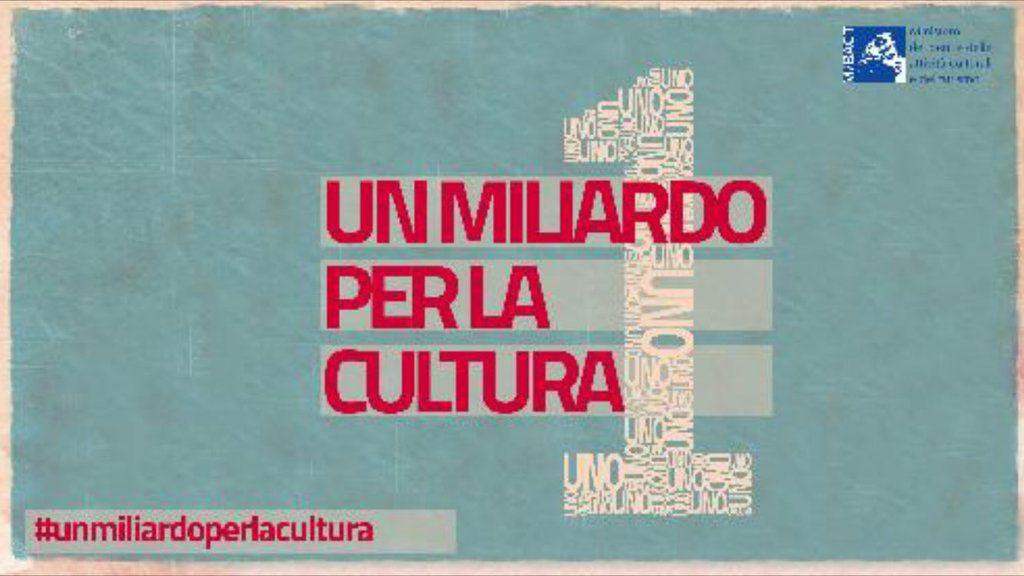 Franceschini: pronto 1 miliardo di euro per la cultura