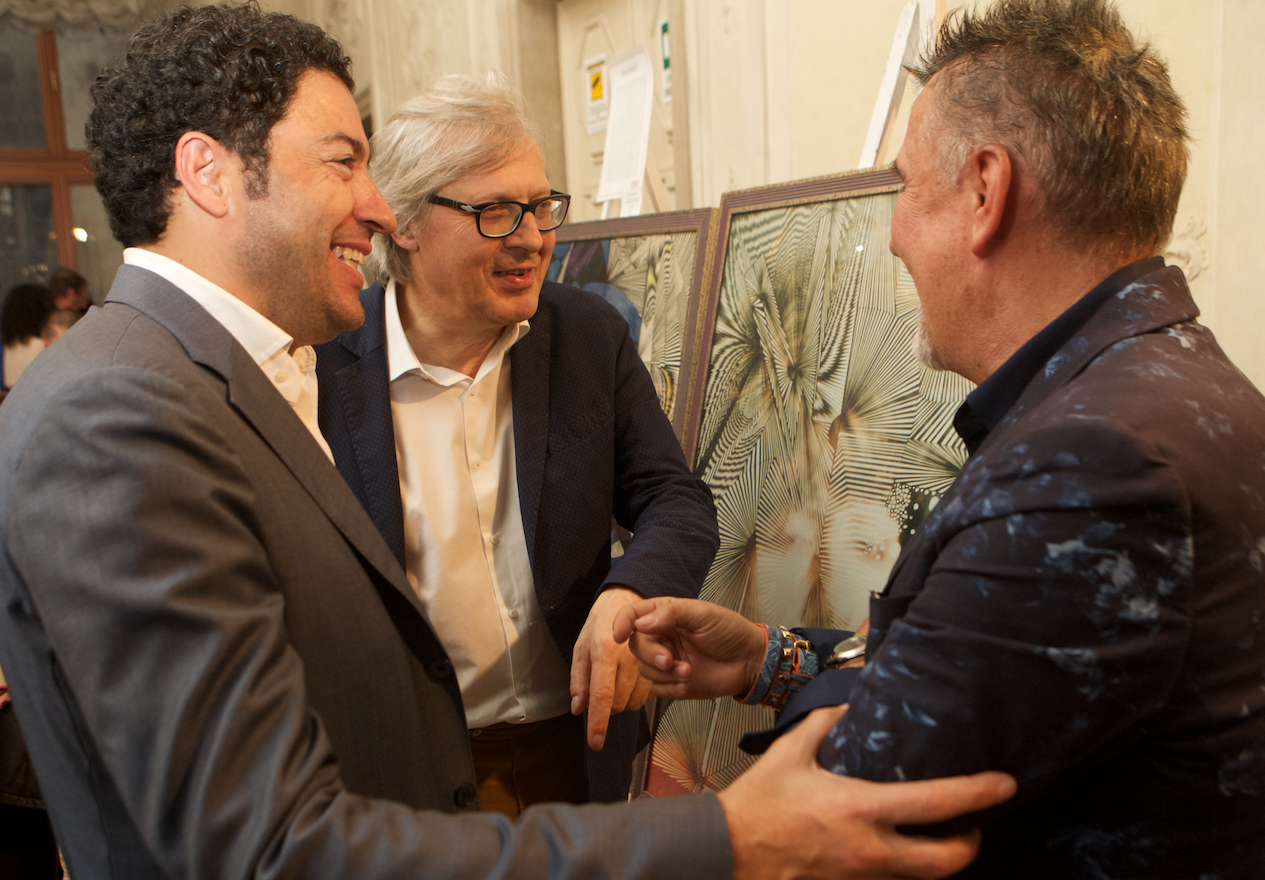 Salvo Nugnes, Vittorio Sgarbi e Alviero Martini - Pro Biennale