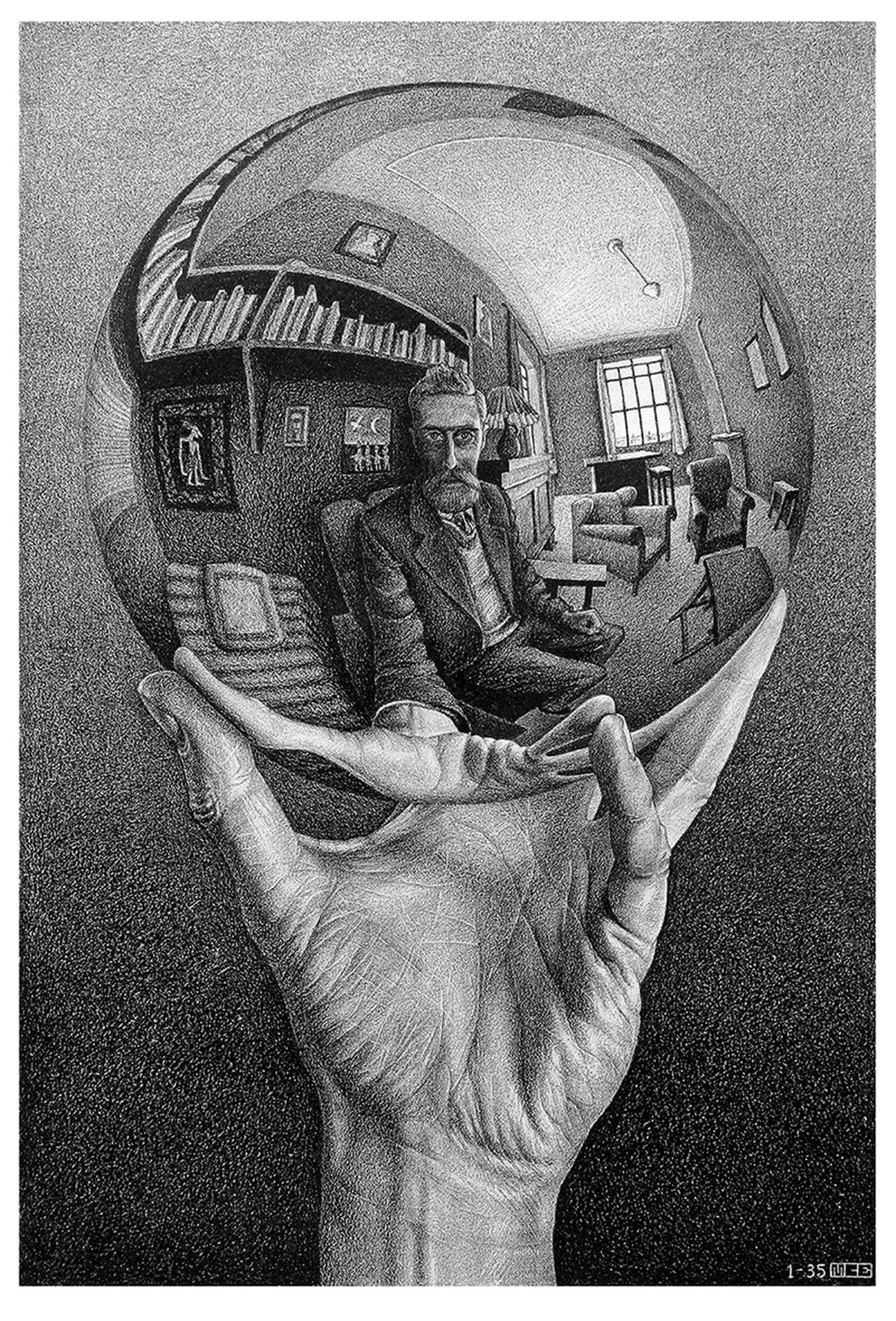 Escher Milano Palazzo Reale Litografia Sfera Riflettente