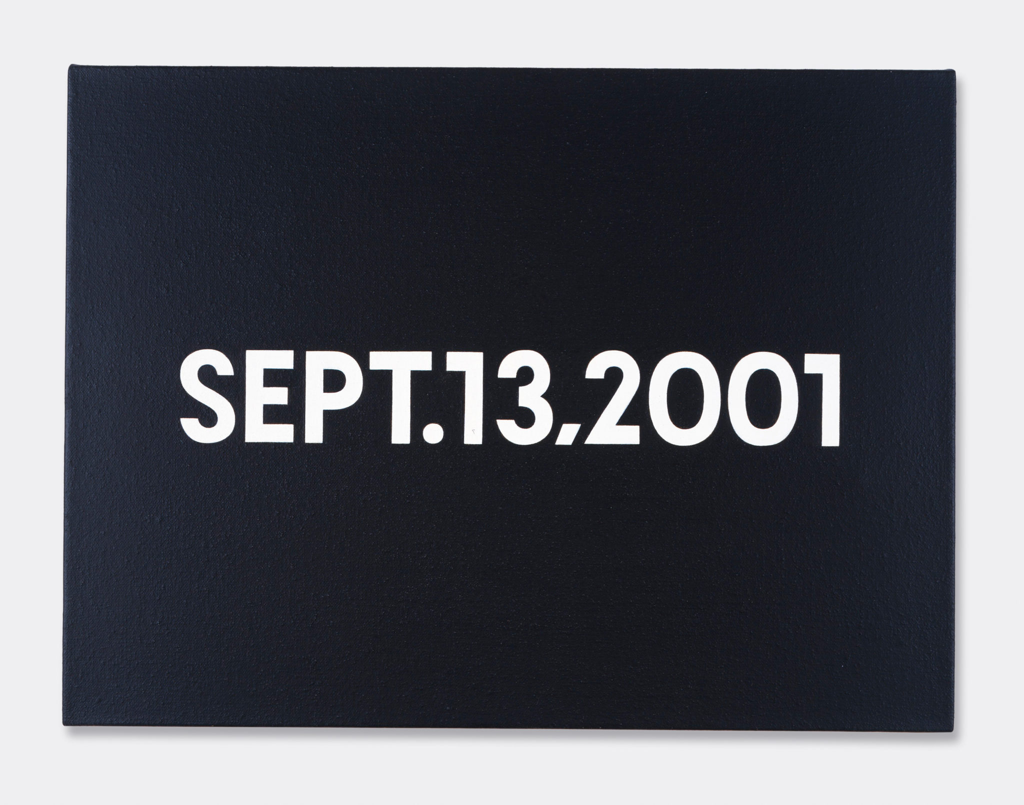 On Kawara, SEPT.13, 2001 Pinault Collection Ph: Archive Pinault Collection