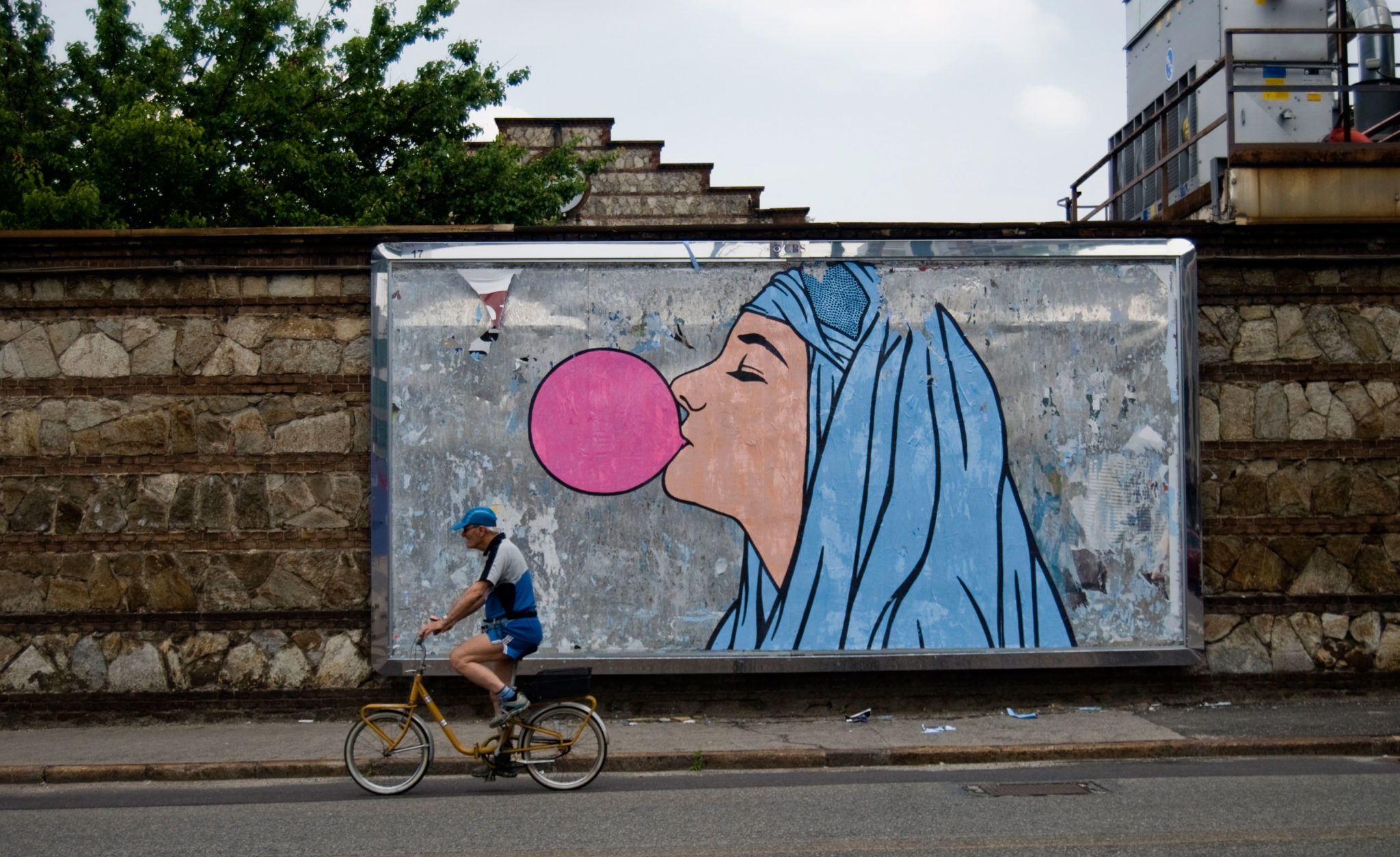 WK_BR1_Welcome big babol, poster on billboard, Turin, 2012_courtesy of the artist