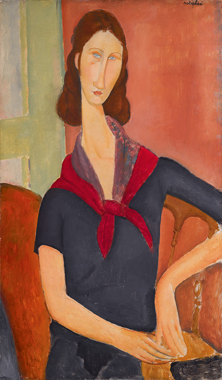 AMEDEO MODIGLIANI Jeanne Hébuterne (au foulard), 1919 Oil on canvas