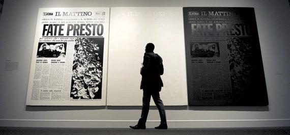 A. Warhol, Fate presto, Caserta, Palazzo Reale, Collezione Terrae Motus.