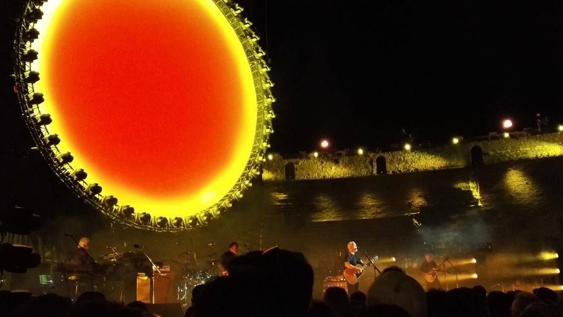 David Gilmour live a Pompei © Mirella Maselli