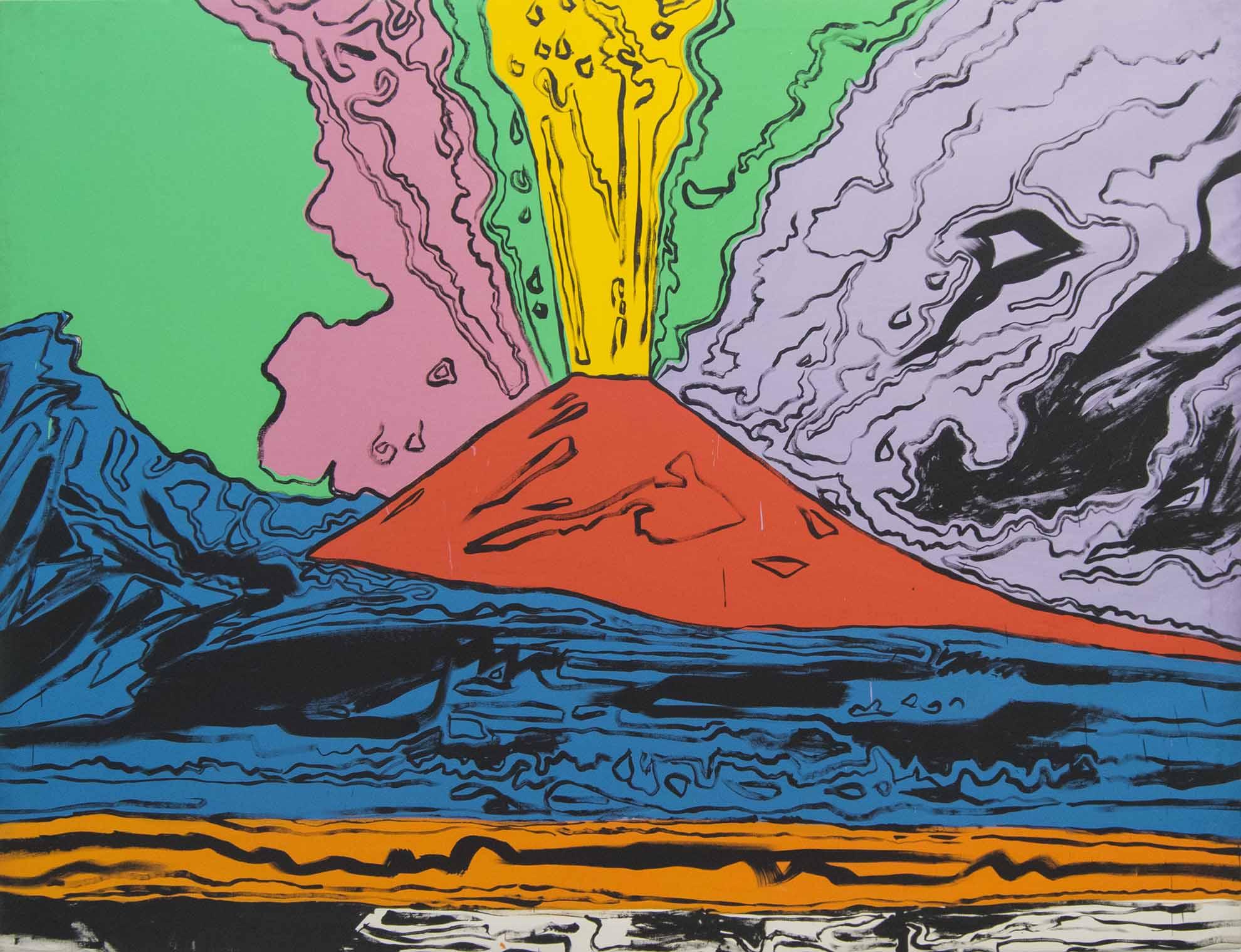 A.Warhol, Vesuvius, 1985, Museo di Capodimonte, Napoli