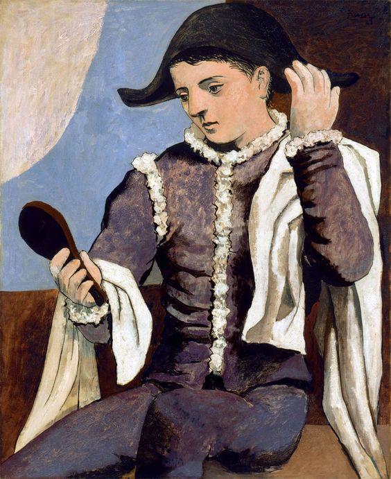 Arlecchino con specchio, 1923 Museo Thyssen Bornemisza