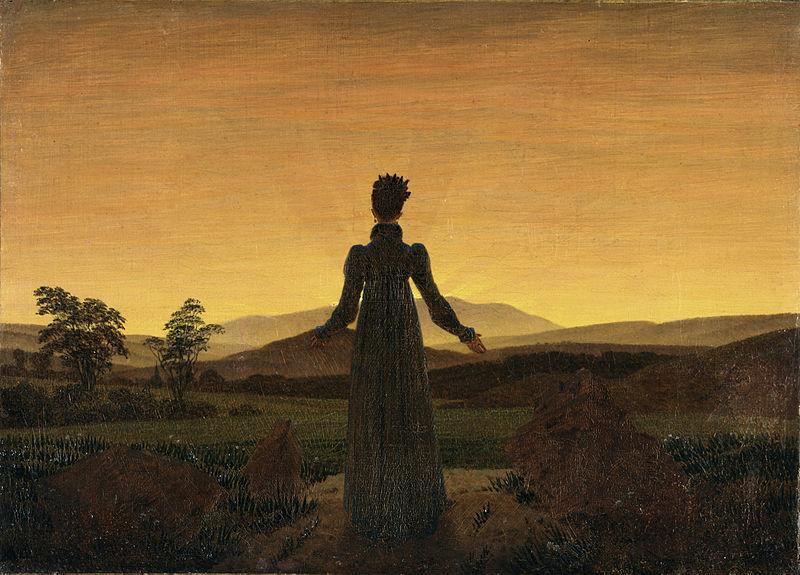 C.D. Friedrich, Donna al tramonto del sole, 1818