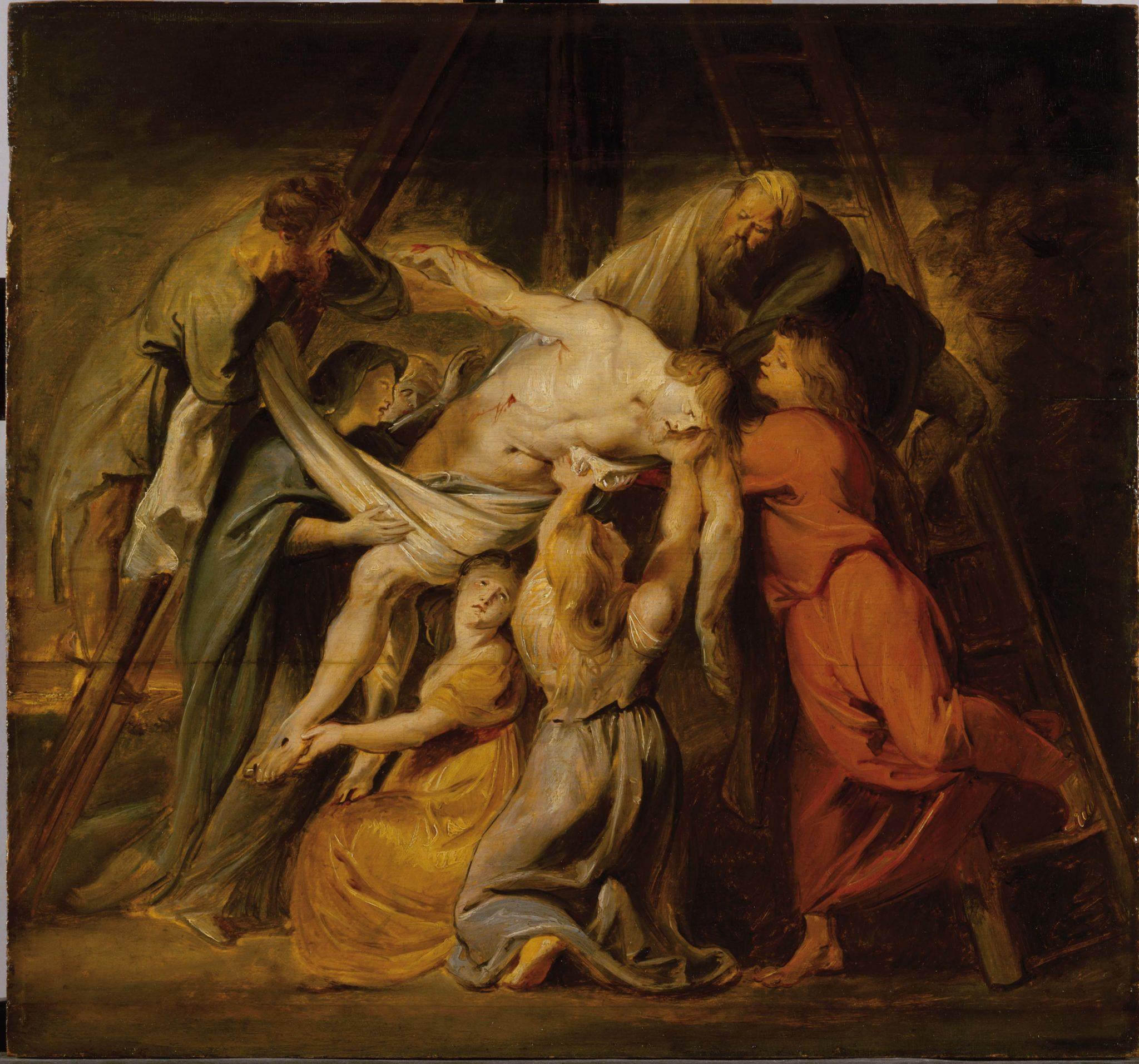 Rubens Pieter Paul, Deposizione, 1611 ca, olio su legno, cm 48,7x52[2]