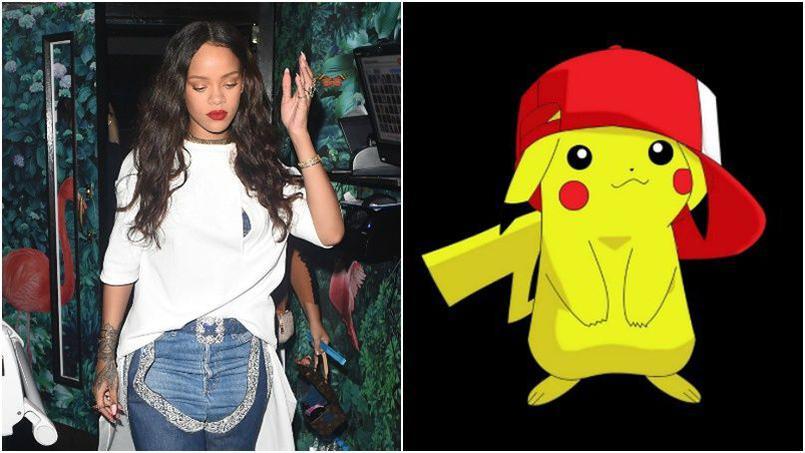 Rihanna e Pikachu