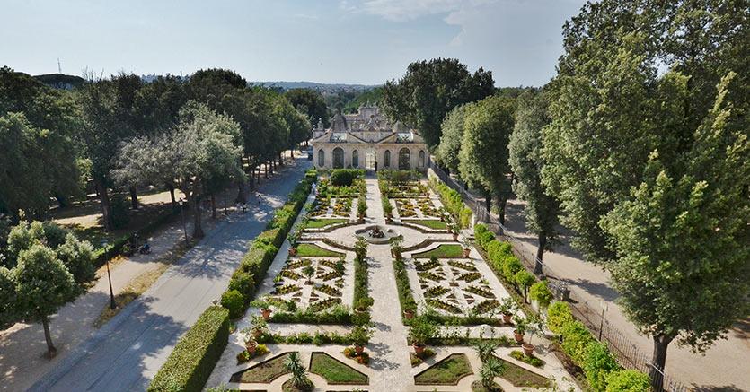Restauro del giardino della Tramontana, Galleria Borghese