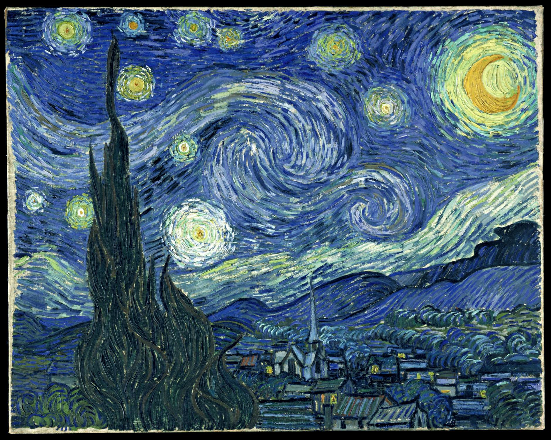V.Van Gogh, Notte stellata 1889