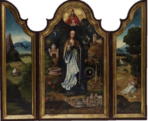 Trittico litanie della Vergine di Adrian Isenbrant