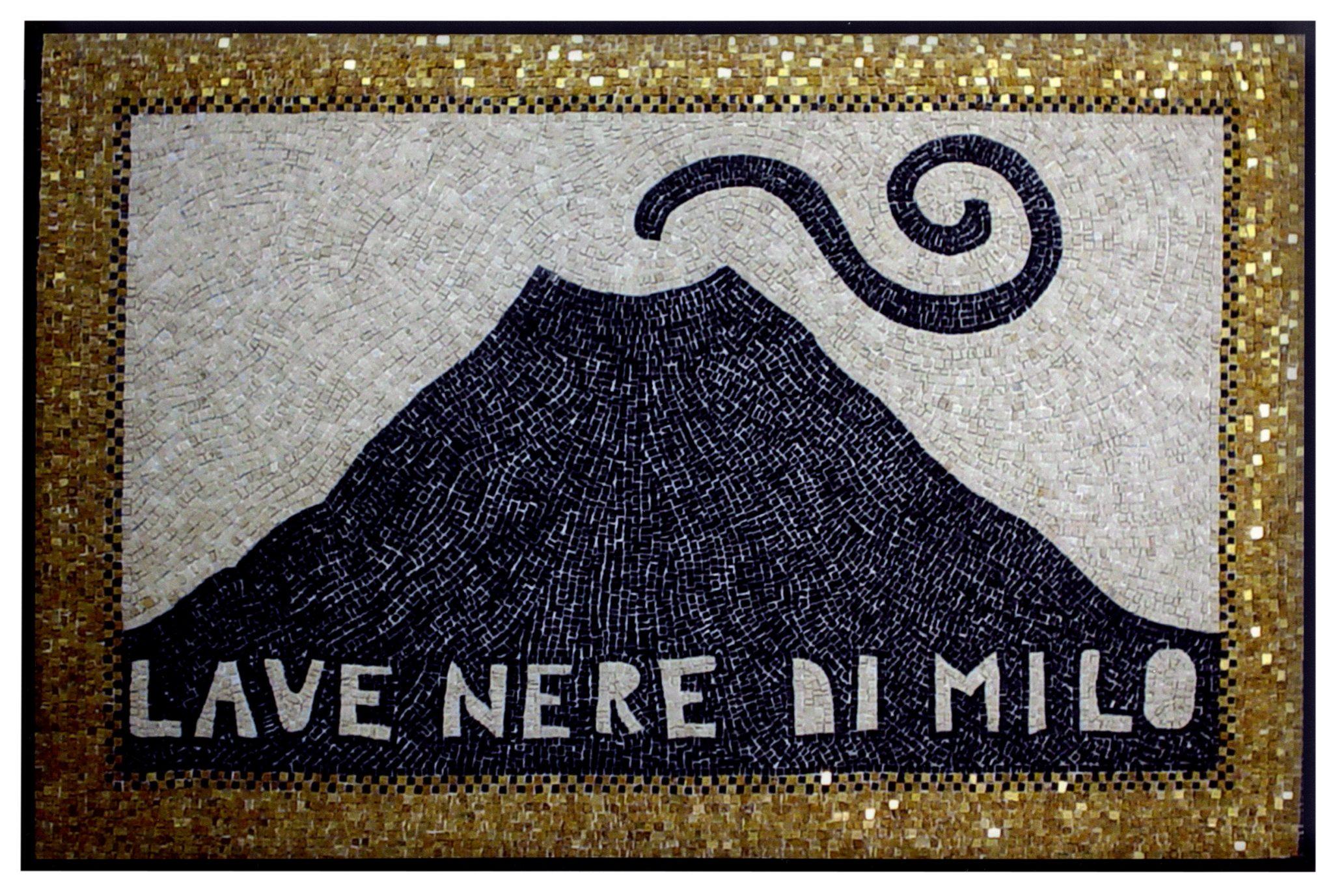 Lave nere di Milo, 2003 mosaico su supporto sintetico flessibile (pietre, smalti e oro) 100 × 150 cm