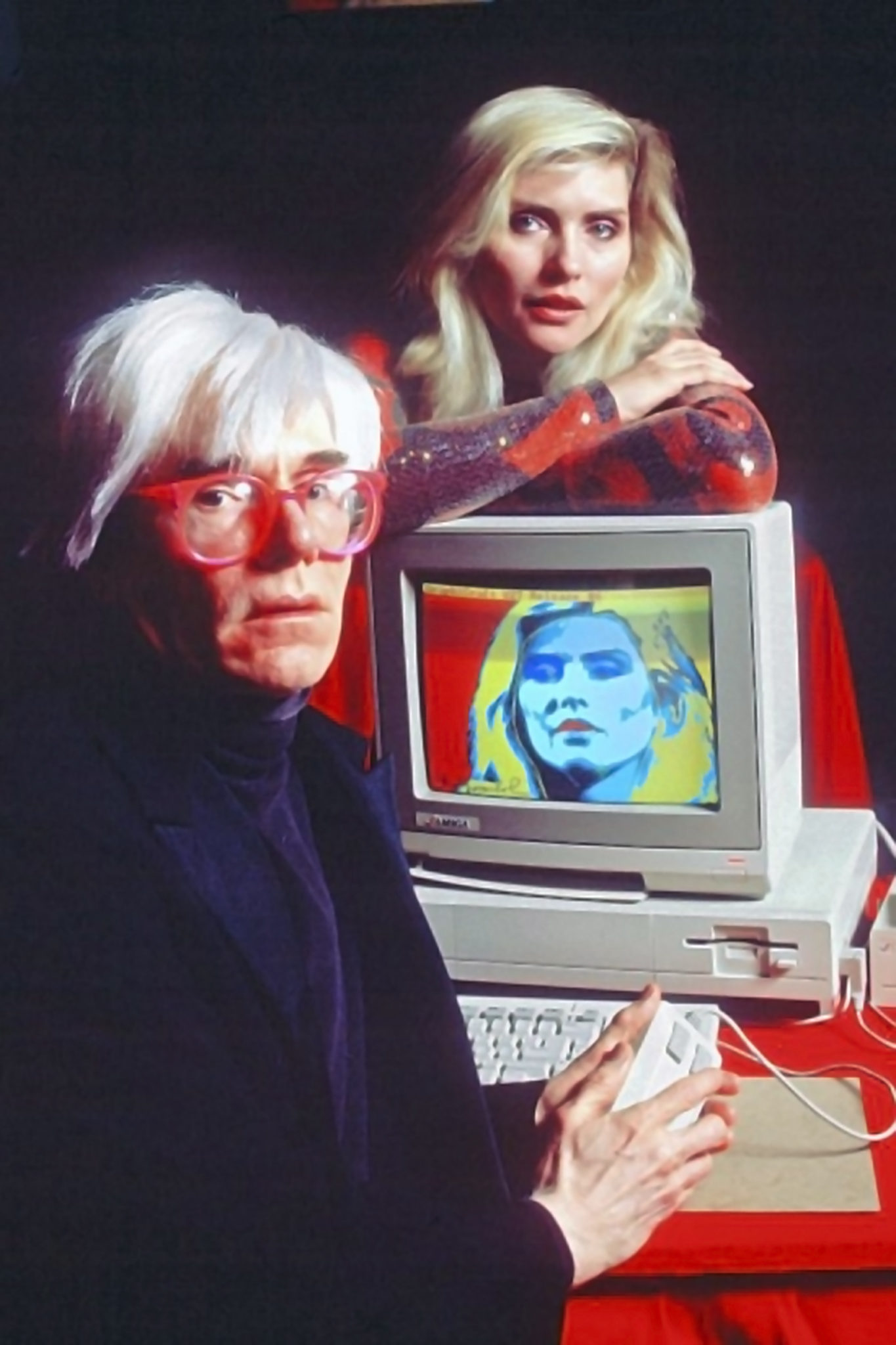 Andy Warhol e Debby Harry al Lincoln Center per la presentazione di Amiga 1000, 1985