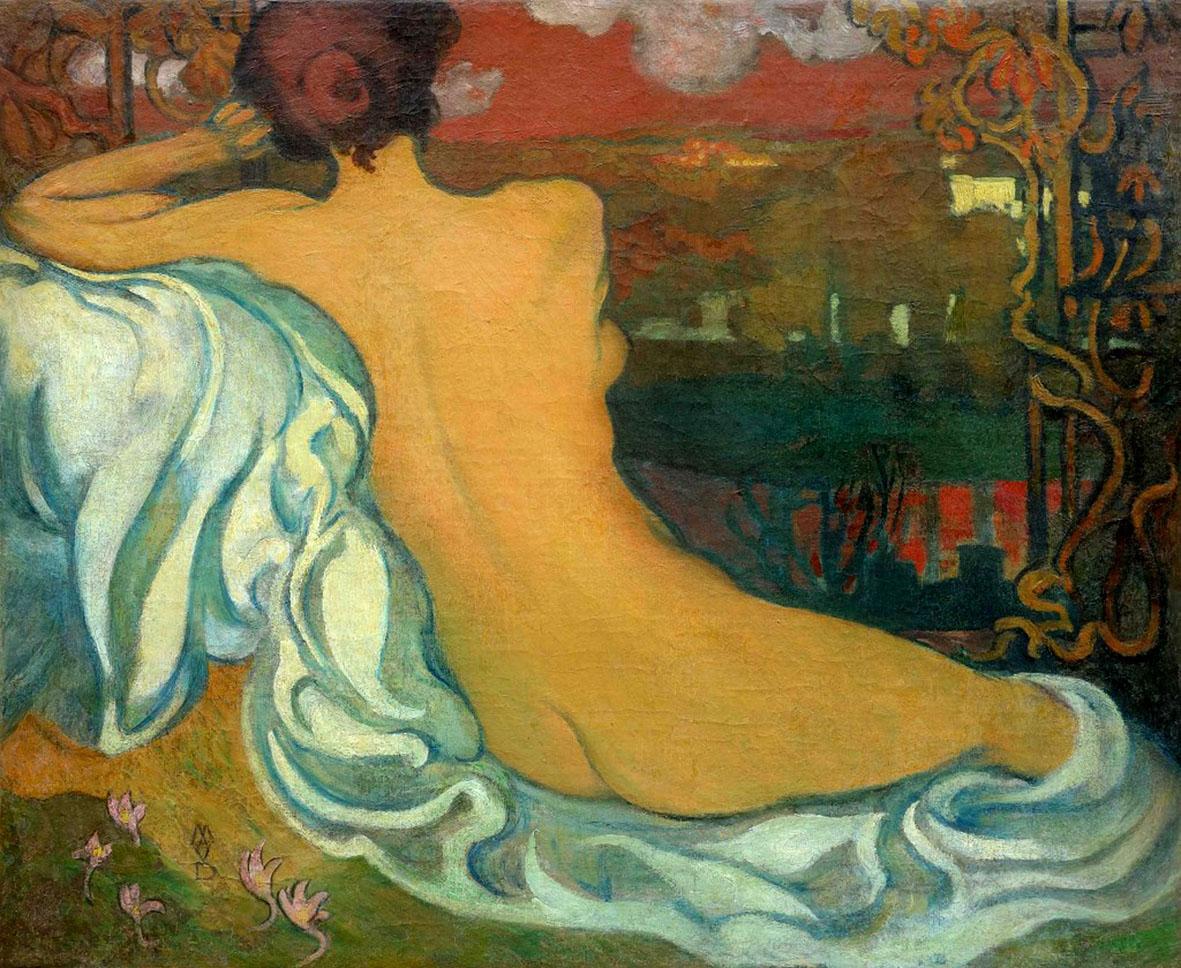 Maurice Denis: Belle au crépuscule, Olio su tela, Saint Germain