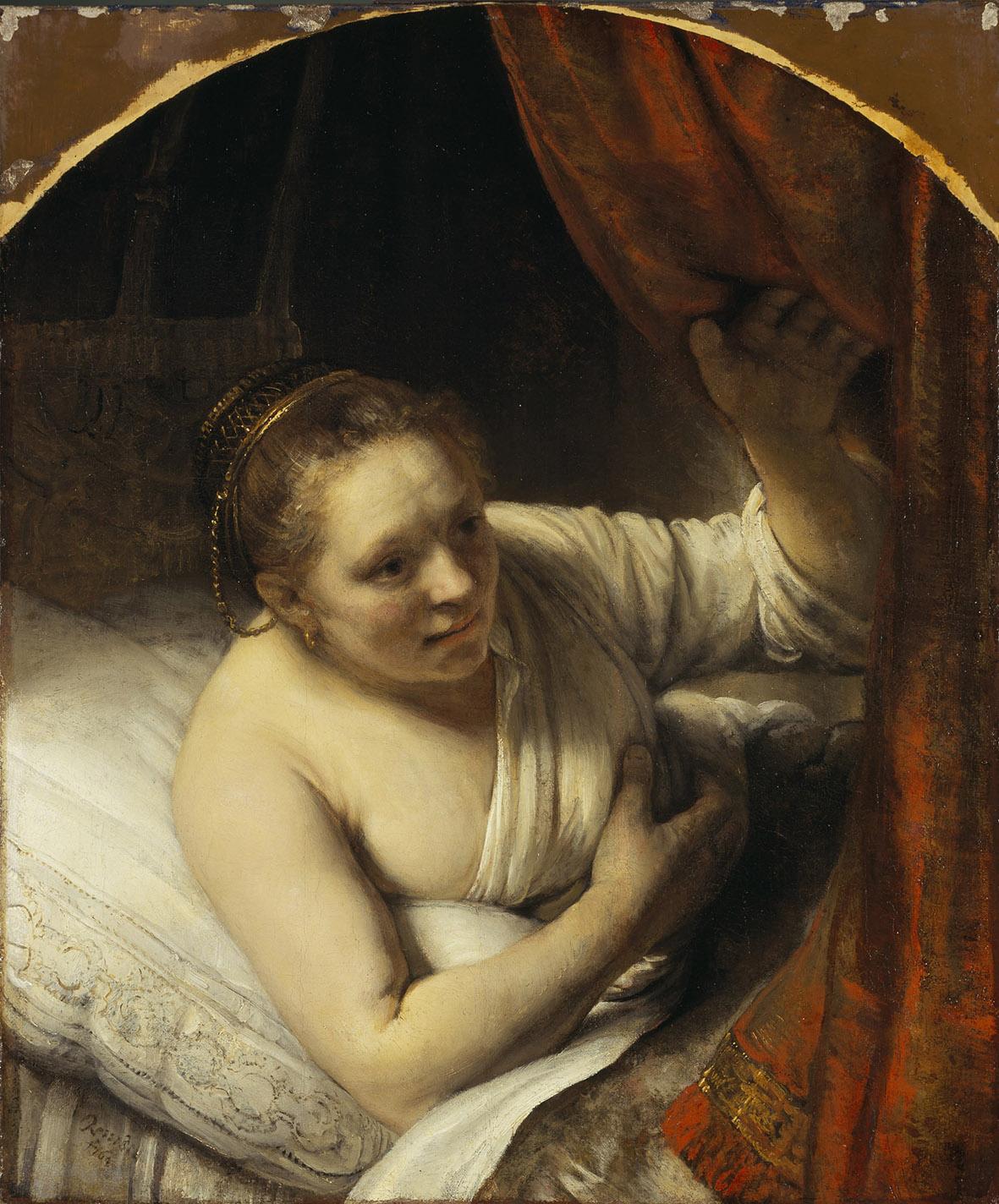 Rembrandt. Una donna nel letto