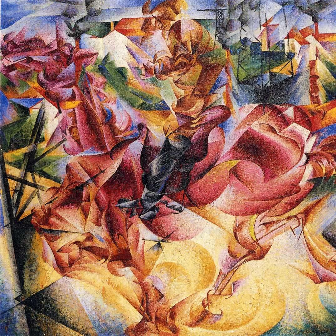 Umberto Boccioni, Elasticity, 1912