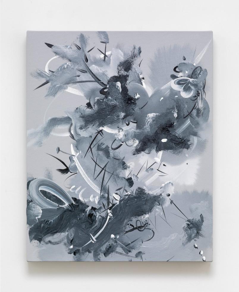 Fiona Rae Figment 1b, 2015 Oil and acrylic on canvas 61 x 49.5 cm