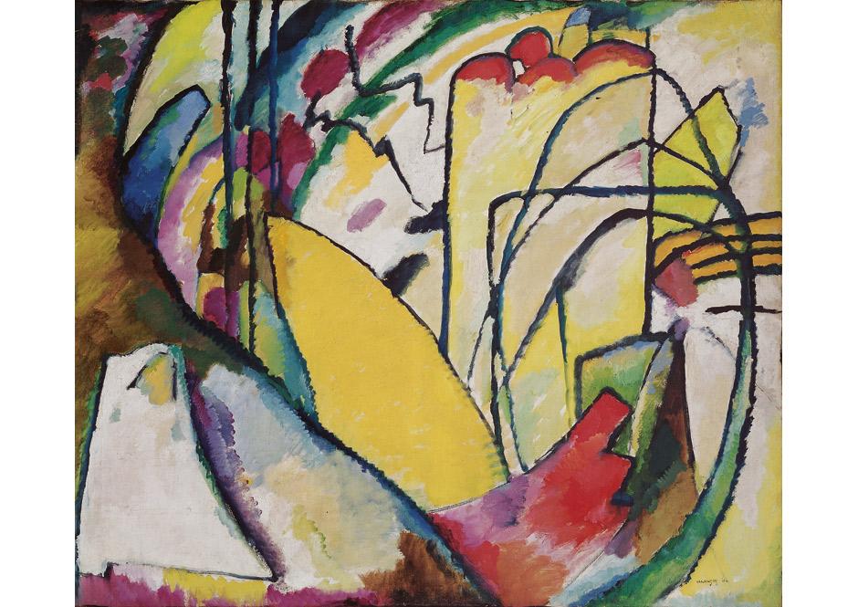 Wassily Kandinsky, Improvisation 10, 1910, Öl auf Leinwand Fondation Beyeler, Riehen/Basel, Sammlung Beyeler