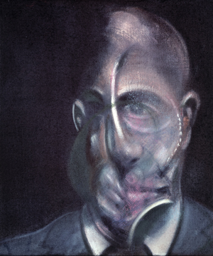 FRANCIS BACON PORTRAIT OF MICHEL LEIRIS 1976 Oil on canvas 34 x 29 cm Centre Pompidou, Paris – Musée national d'art moderne. Centre de création industrielle, Donation Louise et Michel Leiris, 1984