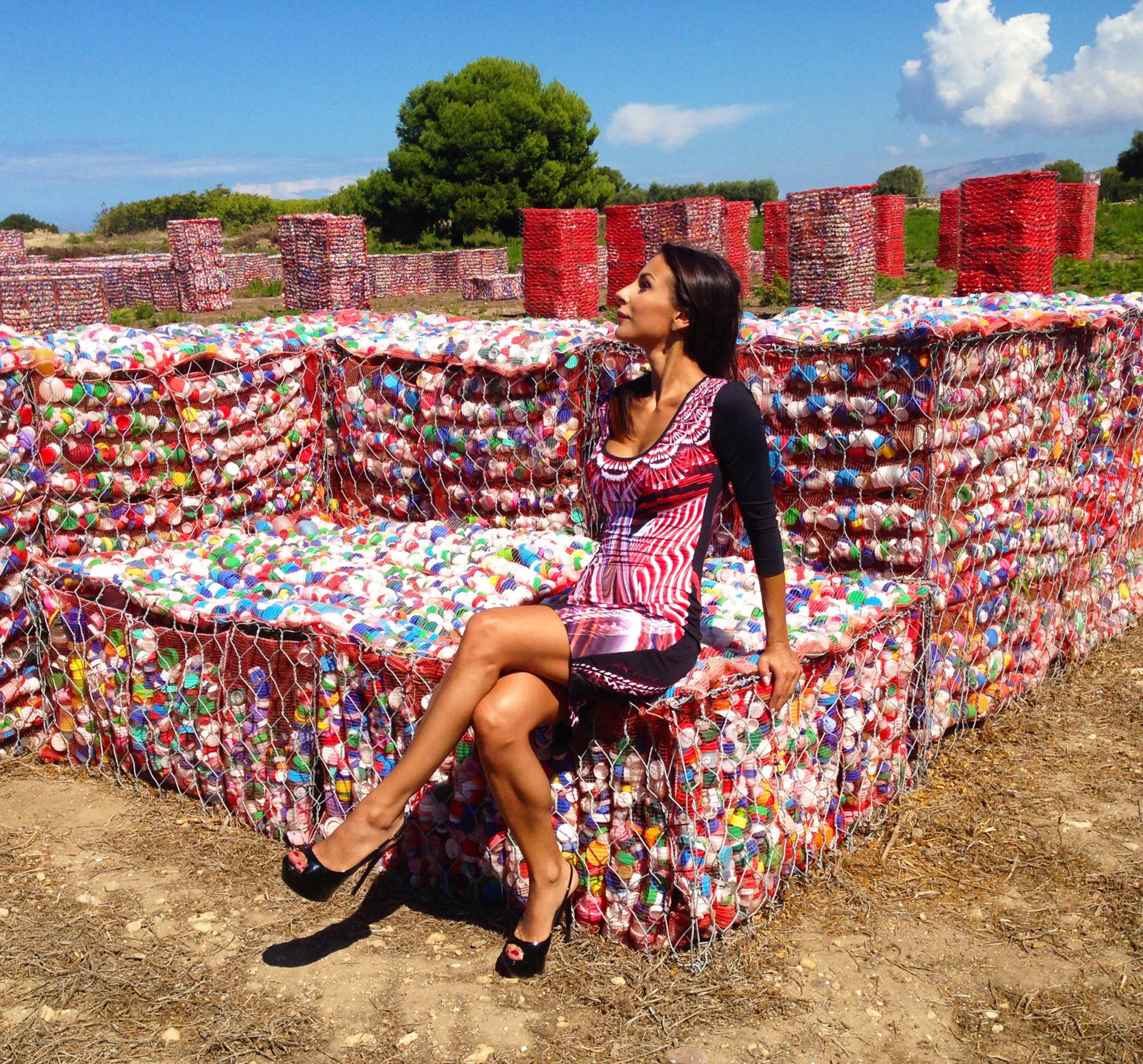 """#SELFIEADARTE """"Ricicla"""" #Help, l'età della plastica @CristinaFinucci #Mozia @FondazioneTerzoPilastro @CleliaPatella"""