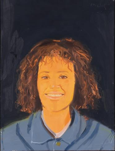 Alex Katz Lysa, 1993 oil on board cm 40,3 x 30,5 Courtesy Galleria Monica De Cardenas, Milano