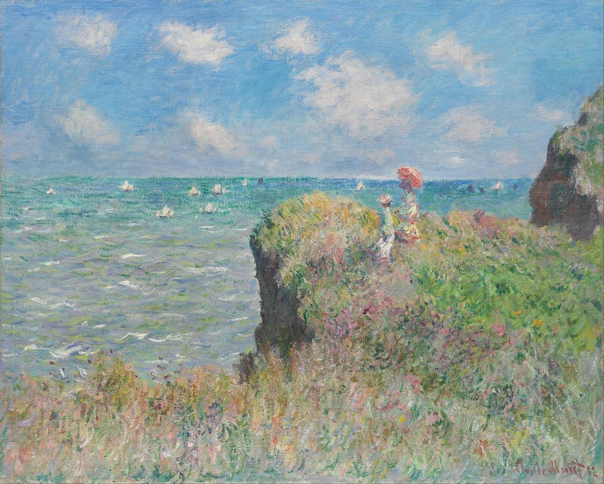 Claude Monet, Passeggiata sulla scogliera a Pourville, 1882 Impressionismo Treviso Museo santa caterina