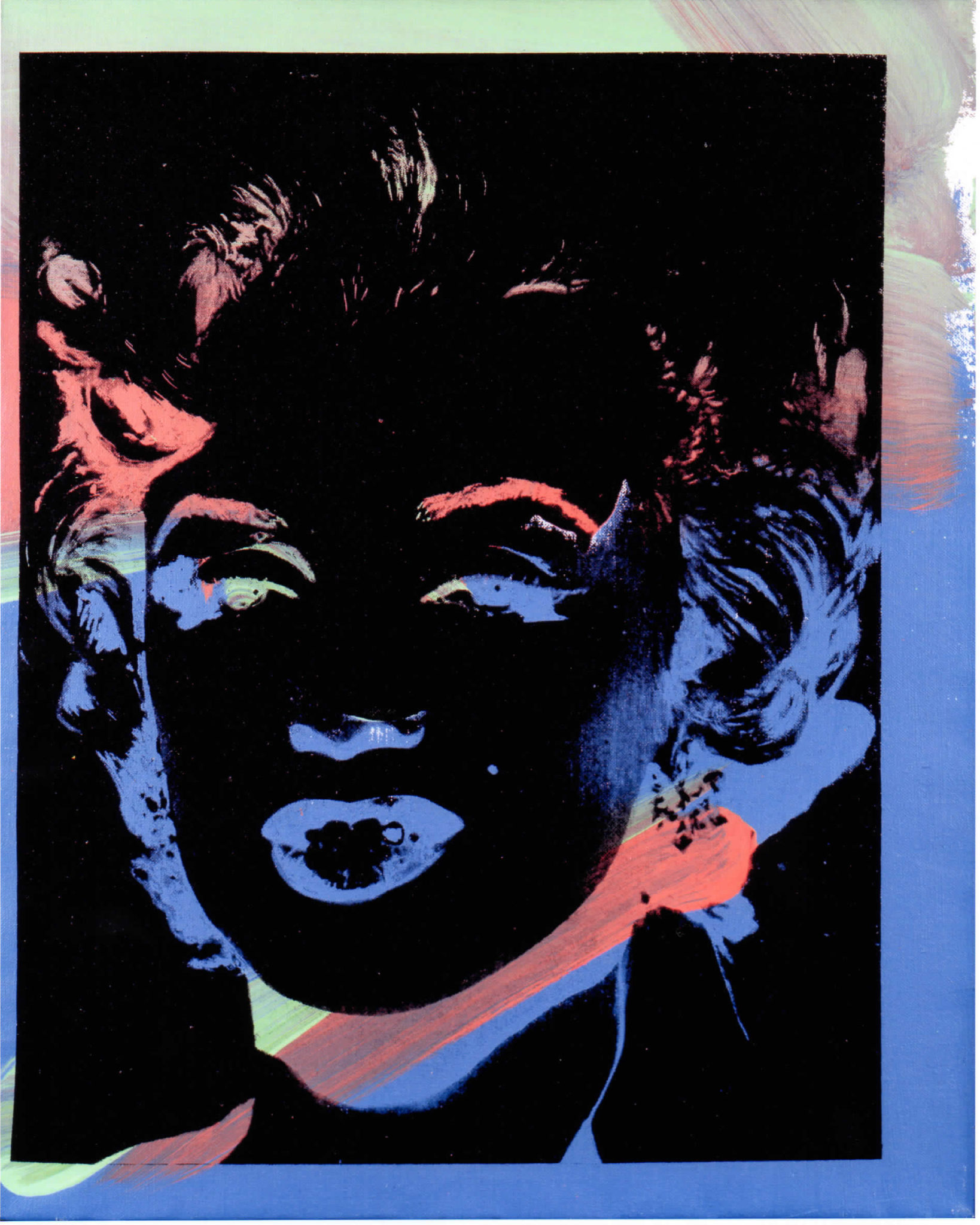 Andy Warhol One Multicoloured Marilyn (Reversal Series) 1979-1986 Acrilico, polimeri sintetici e serigrafia su tela, 50,8x40,7 cm Courtesy: Collezione privata (VR) © The Andy Warhol Foundation for the Visual Arts Inc. by SIAE 2016