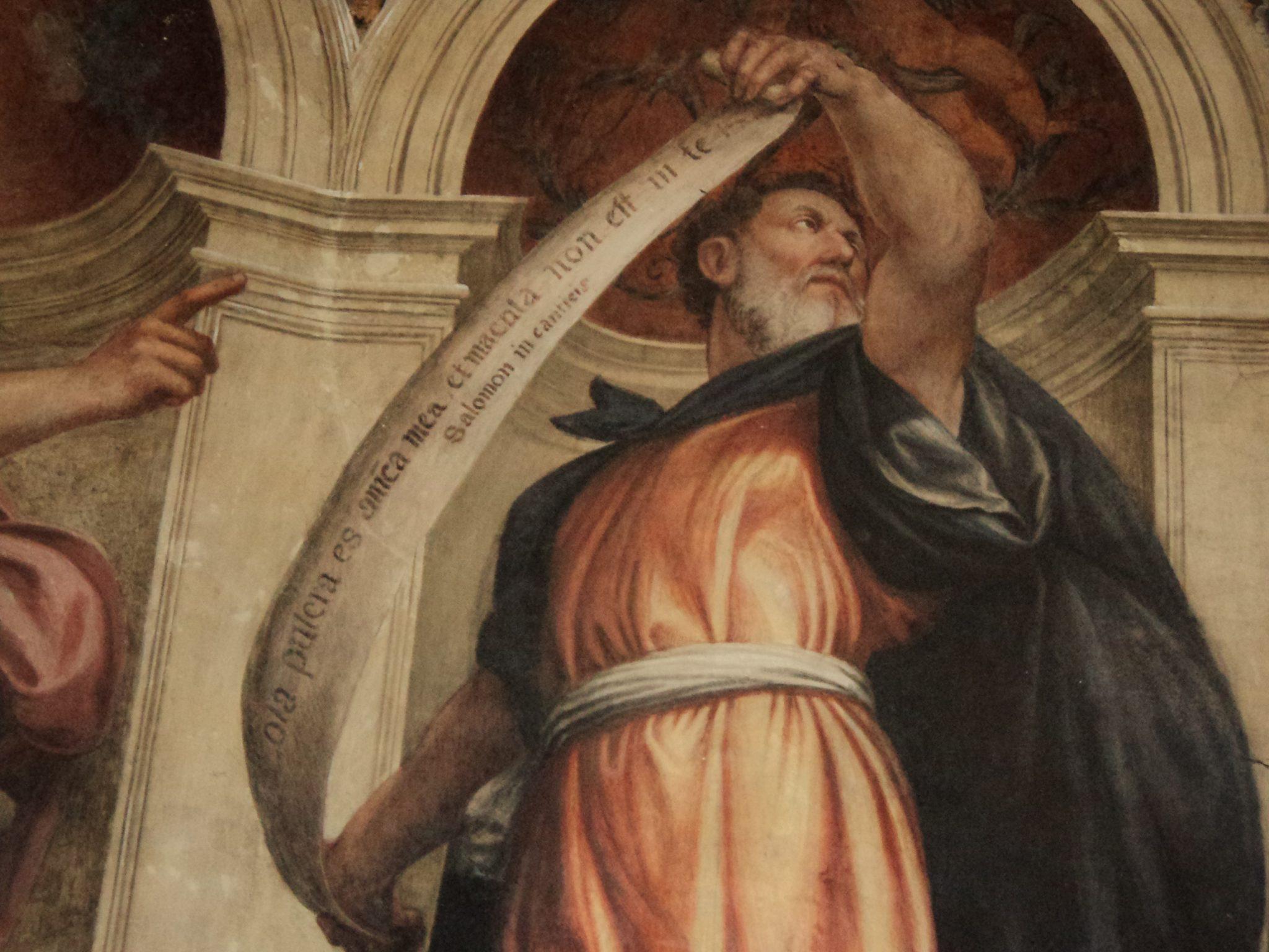 10. Cappella dell'Immacolata Concezione, particolare parete sinistra, Salomone