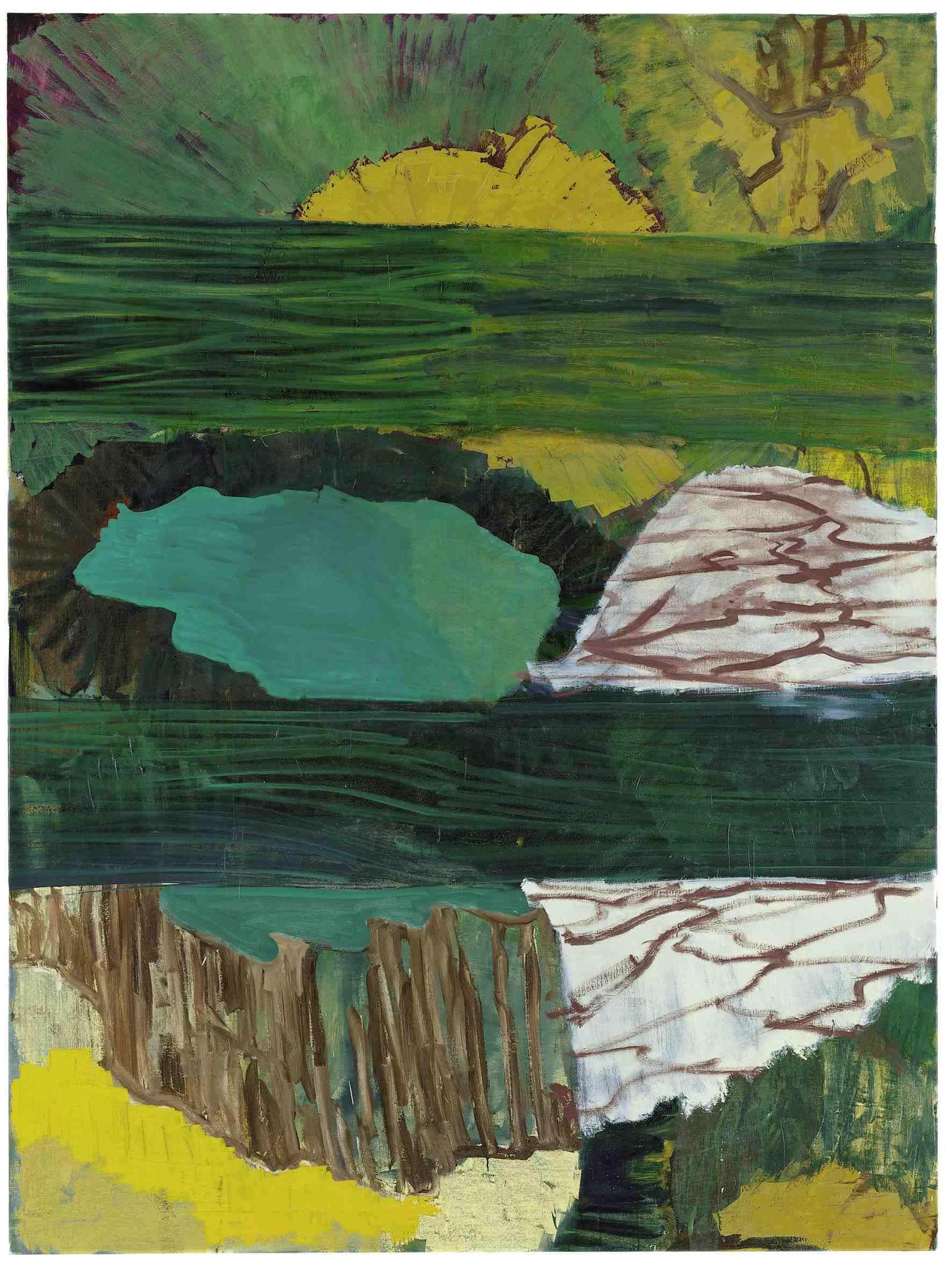PER KIRKEBY Verkostung, 1999 olio su tela, 200 x 150 cm Courtesy Galerie Michael Werner, Märkisch Wilmersdorf
